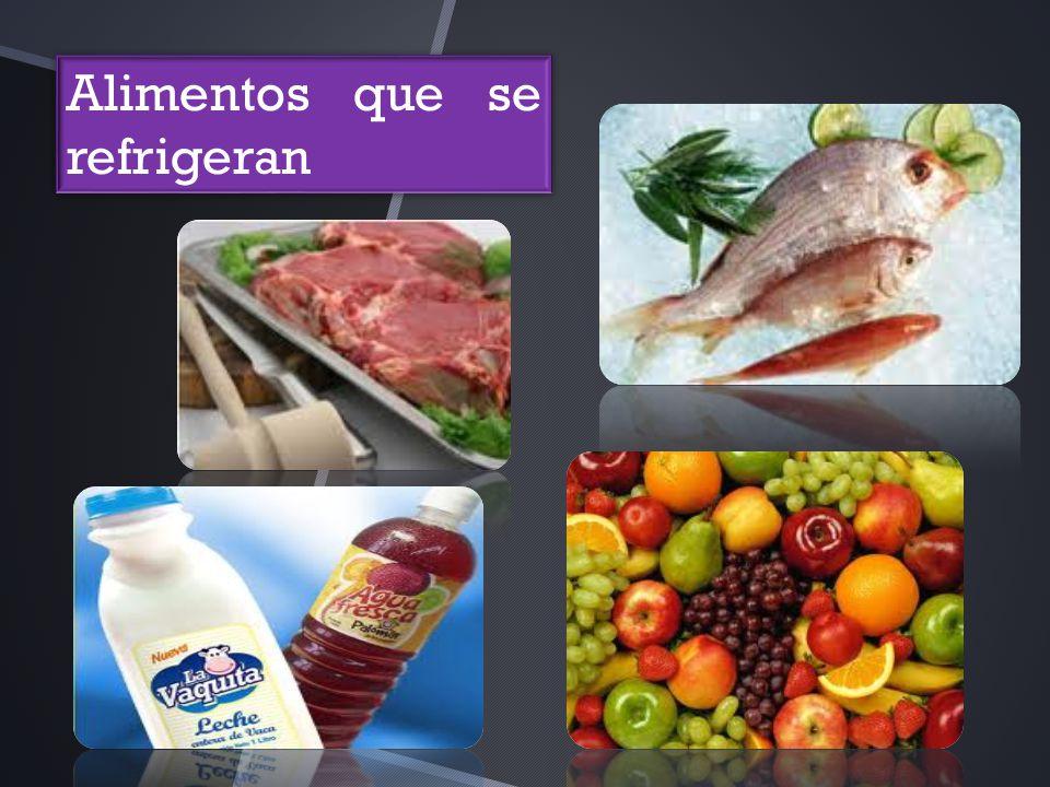 Alimentos que se refrigeran
