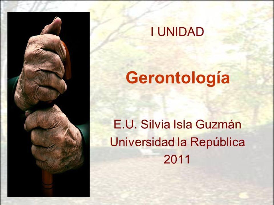 E.U. Silvia Isla Guzmán Universidad la República 2011