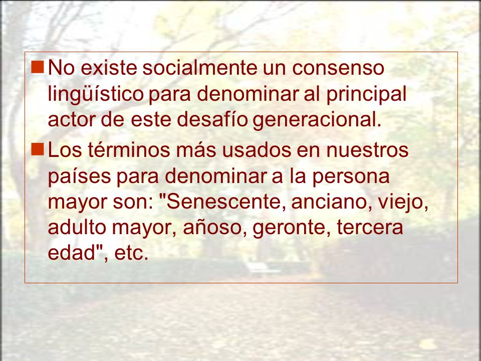 No existe socialmente un consenso lingüístico para denominar al principal actor de este desafío generacional.