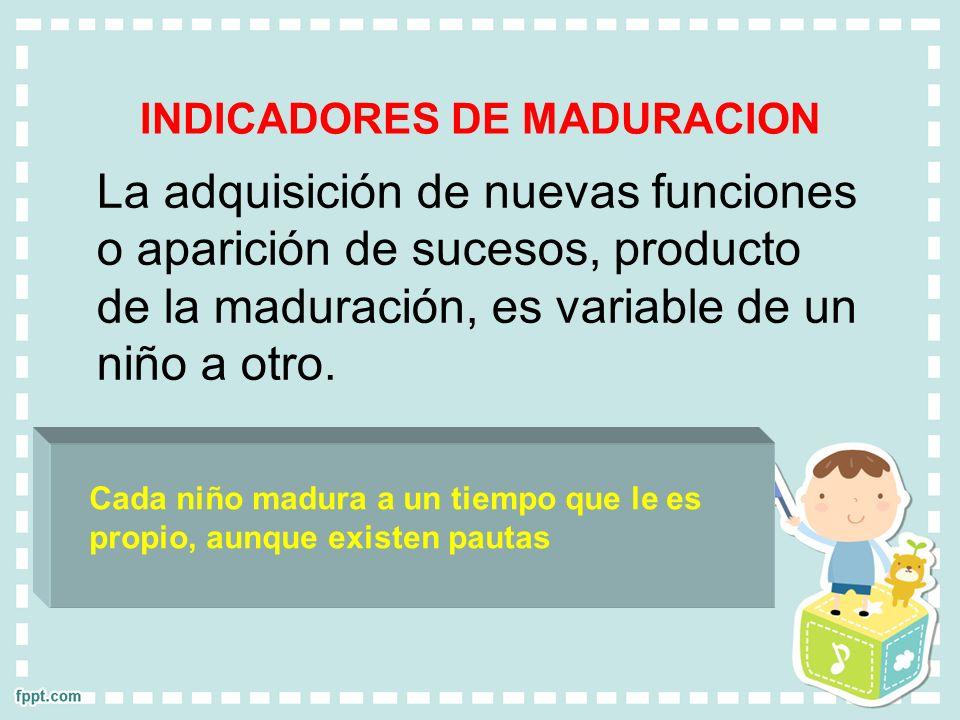 INDICADORES DE MADURACION