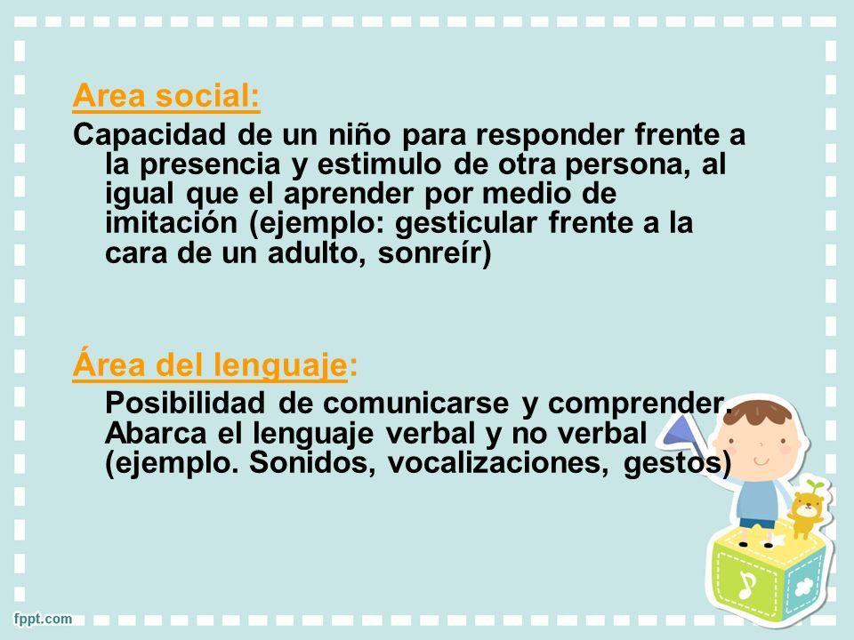 Area social: Área del lenguaje: