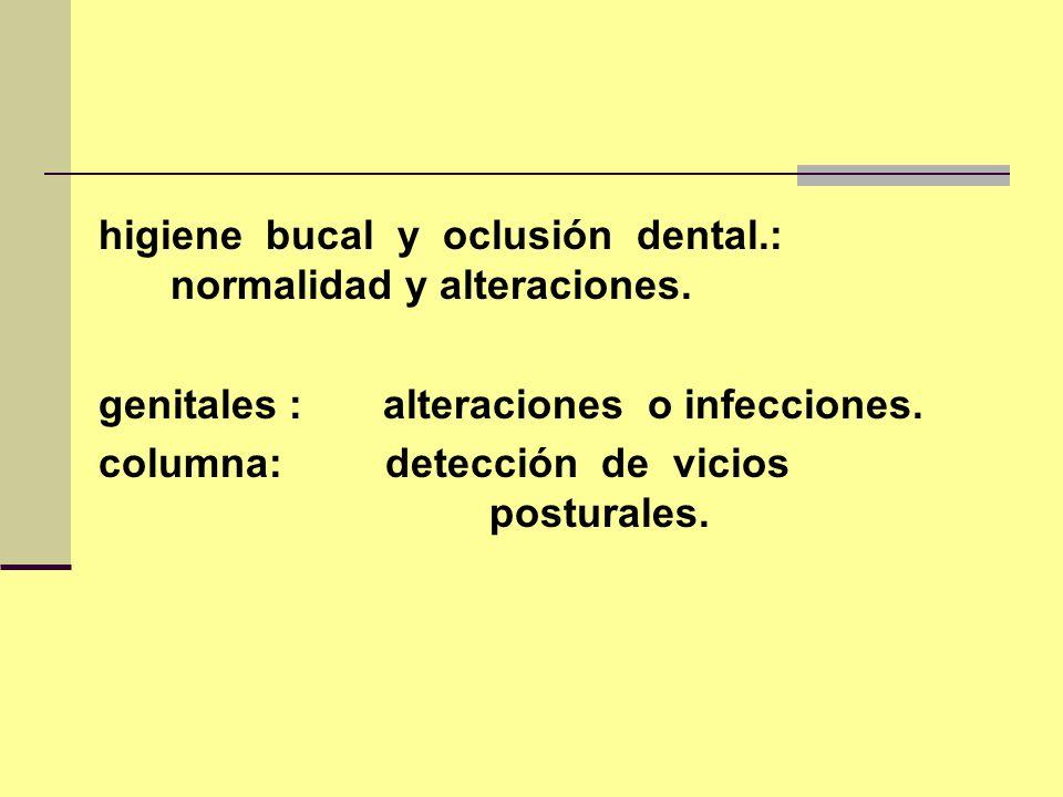 higiene bucal y oclusión dental.: normalidad y alteraciones.