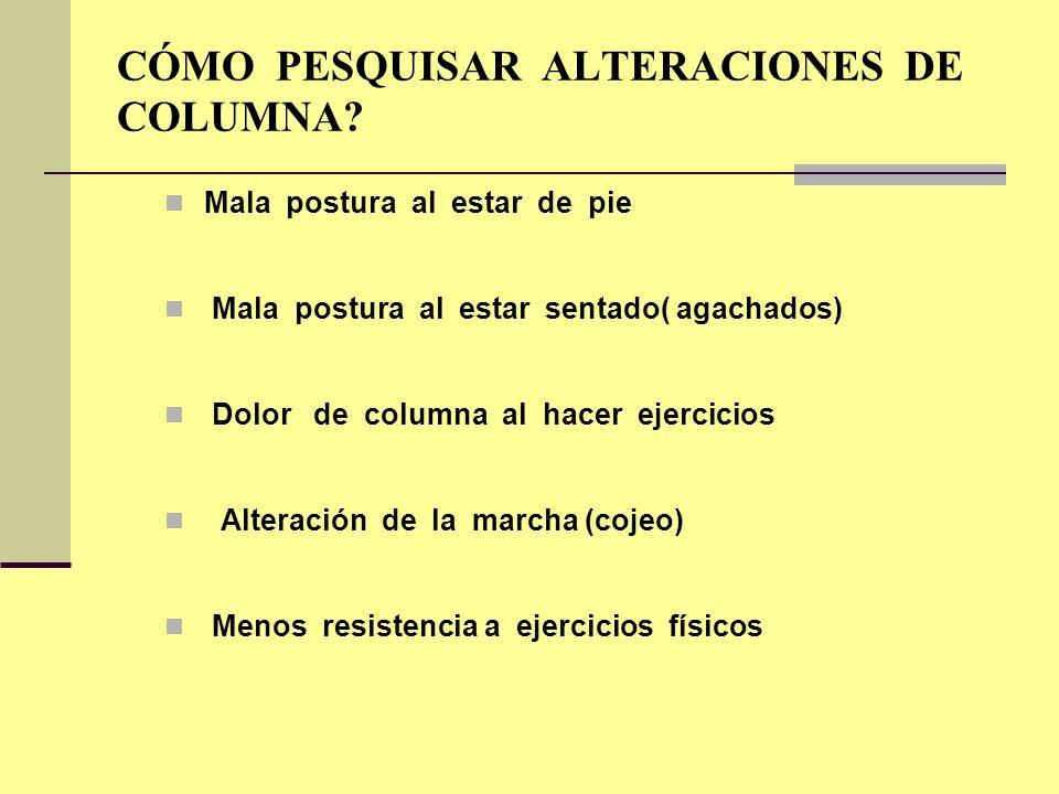 CÓMO PESQUISAR ALTERACIONES DE COLUMNA