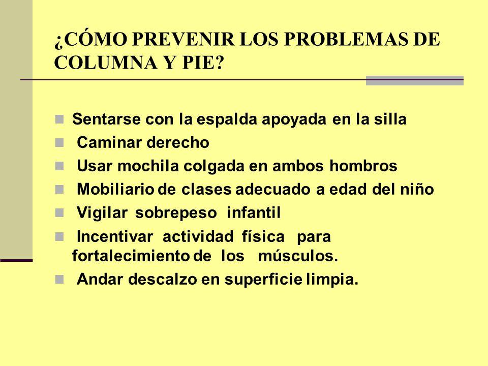 ¿CÓMO PREVENIR LOS PROBLEMAS DE COLUMNA Y PIE
