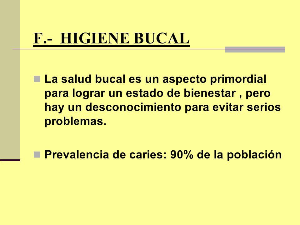 F.- HIGIENE BUCAL
