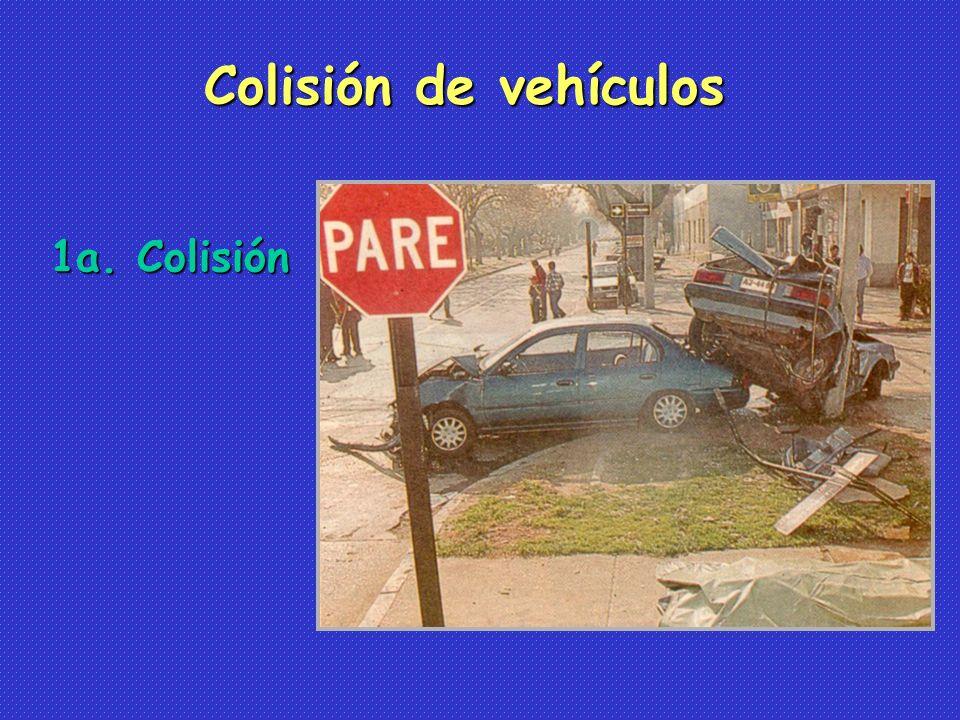 Colisión de vehículos 1a. Colisión