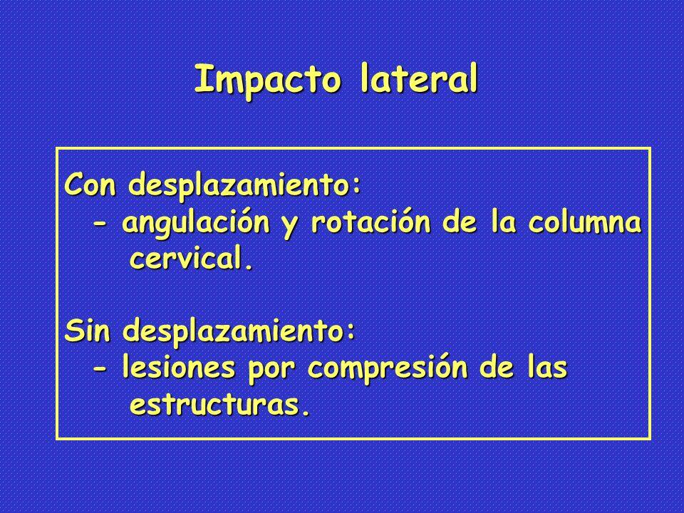 Impacto lateral Con desplazamiento: