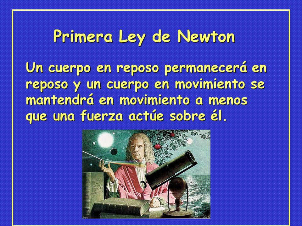 Primera Ley de Newton Un cuerpo en reposo permanecerá en