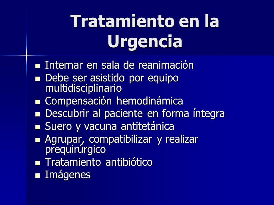 Tratamiento en la Urgencia