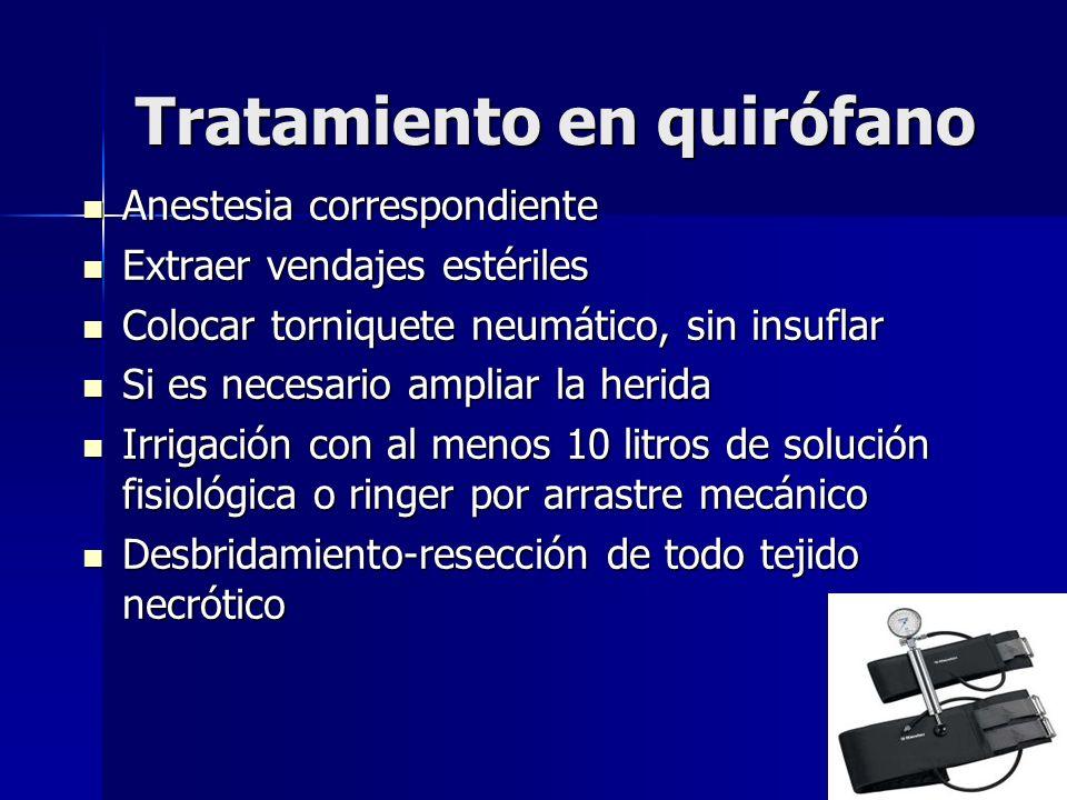 Tratamiento en quirófano