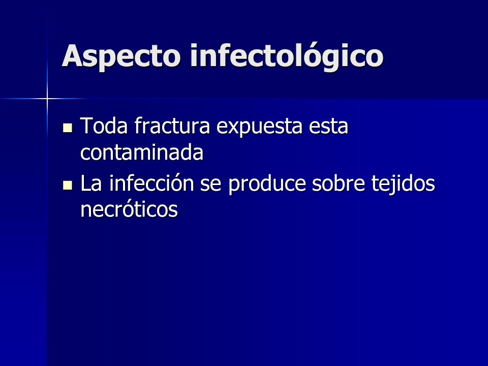Aspecto infectológico