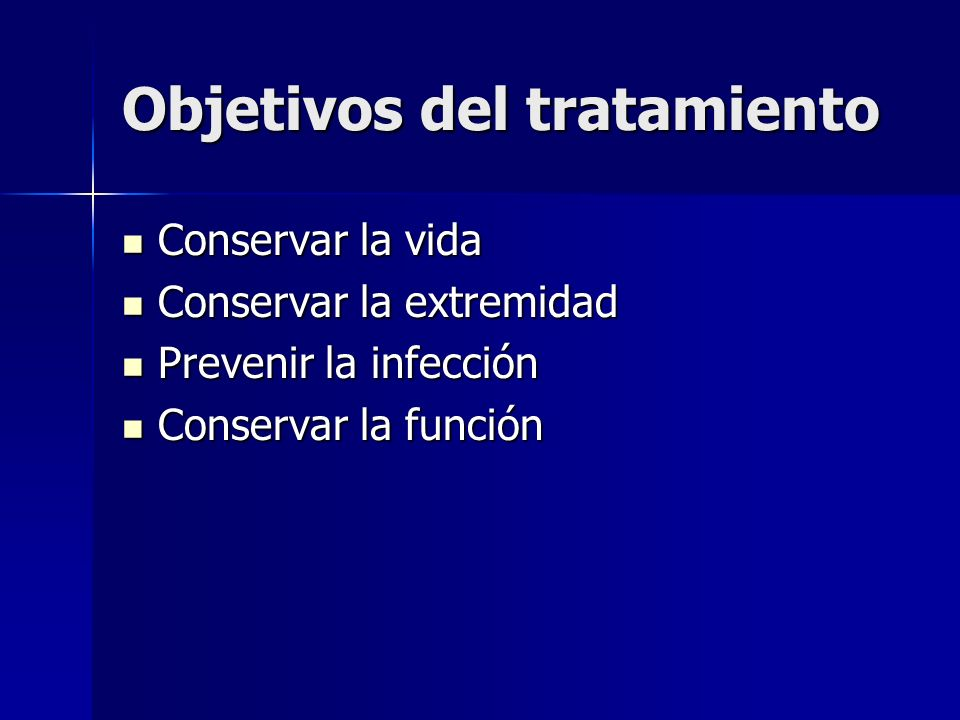 Objetivos del tratamiento