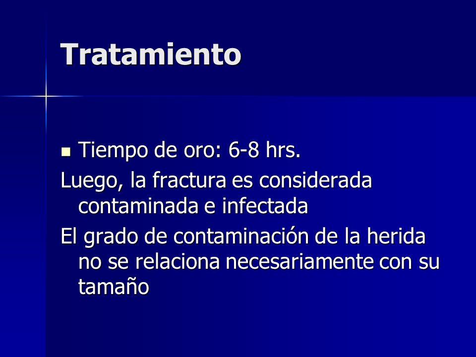 Tratamiento Tiempo de oro: 6-8 hrs.