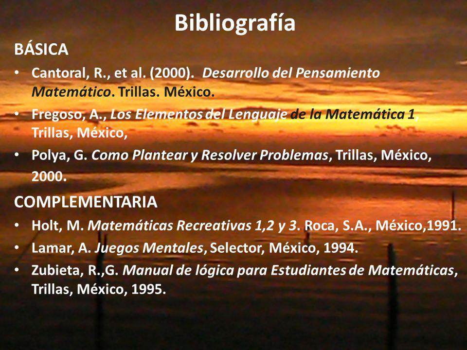 Bibliografía BÁSICA COMPLEMENTARIA