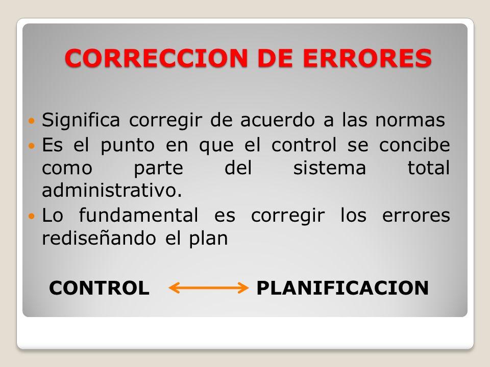 CONTROL PLANIFICACION
