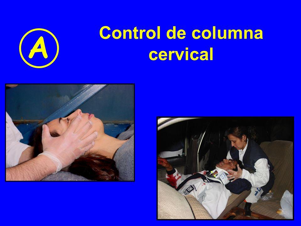 Control de columna cervical