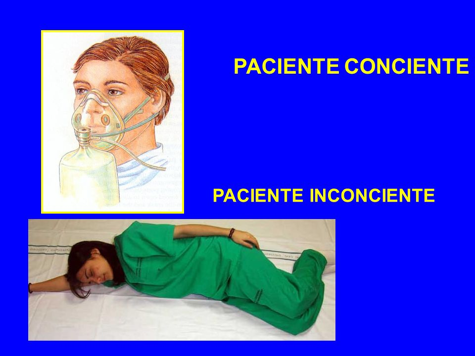 PACIENTE CONCIENTE PACIENTE INCONCIENTE