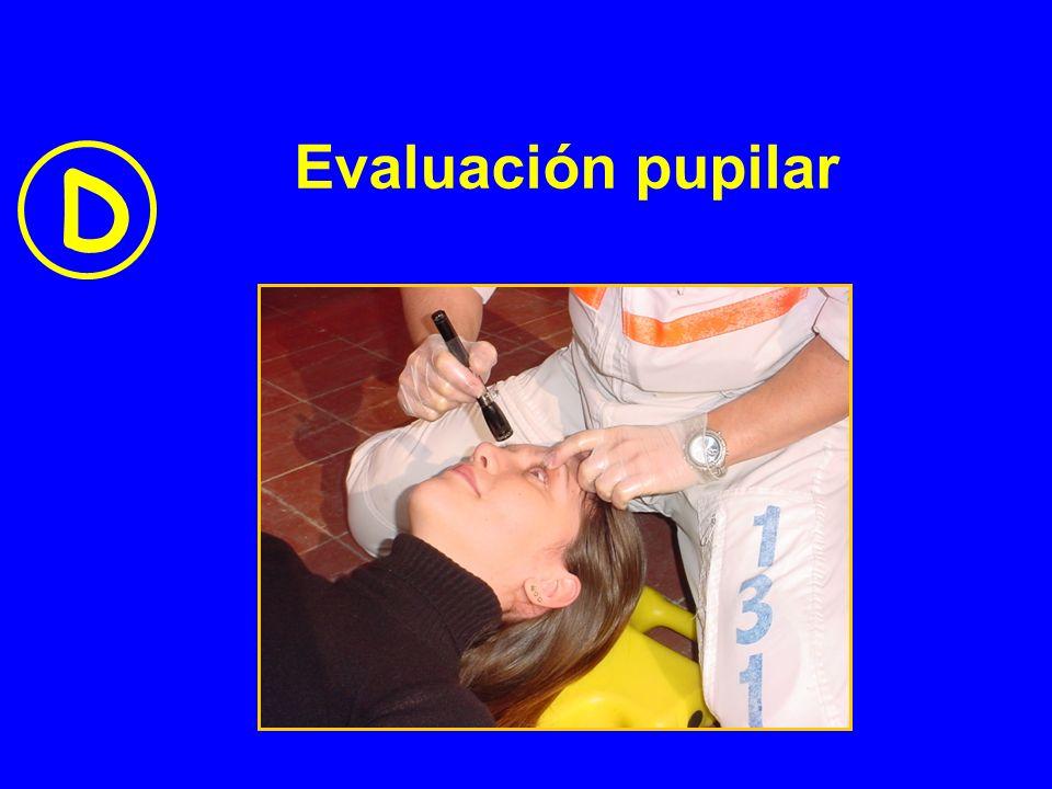 Evaluación pupilar D