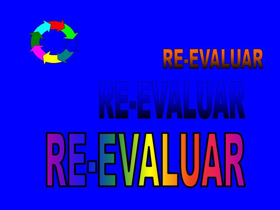 RE-EVALUAR RE-EVALUAR RE-EVALUAR