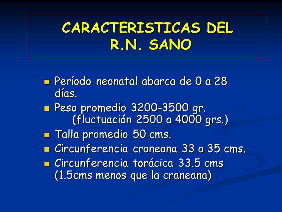 CARACTERISTICAS DEL R.N. SANO
