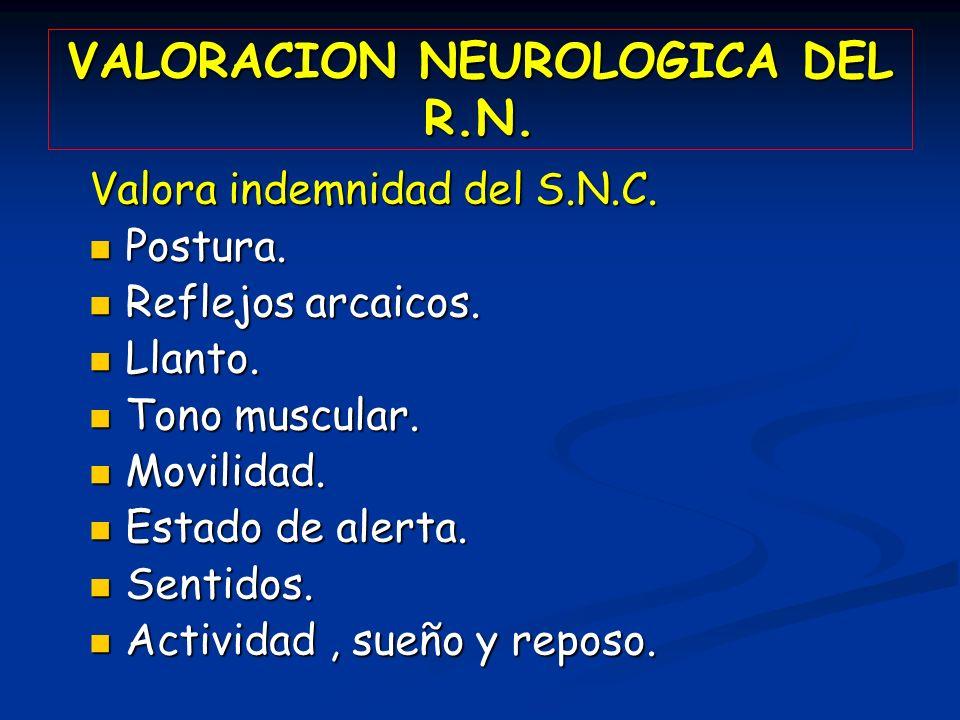 VALORACION NEUROLOGICA DEL R.N.