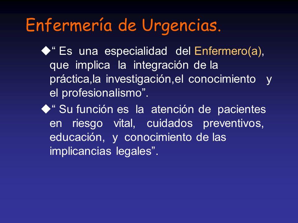 Enfermería de Urgencias.