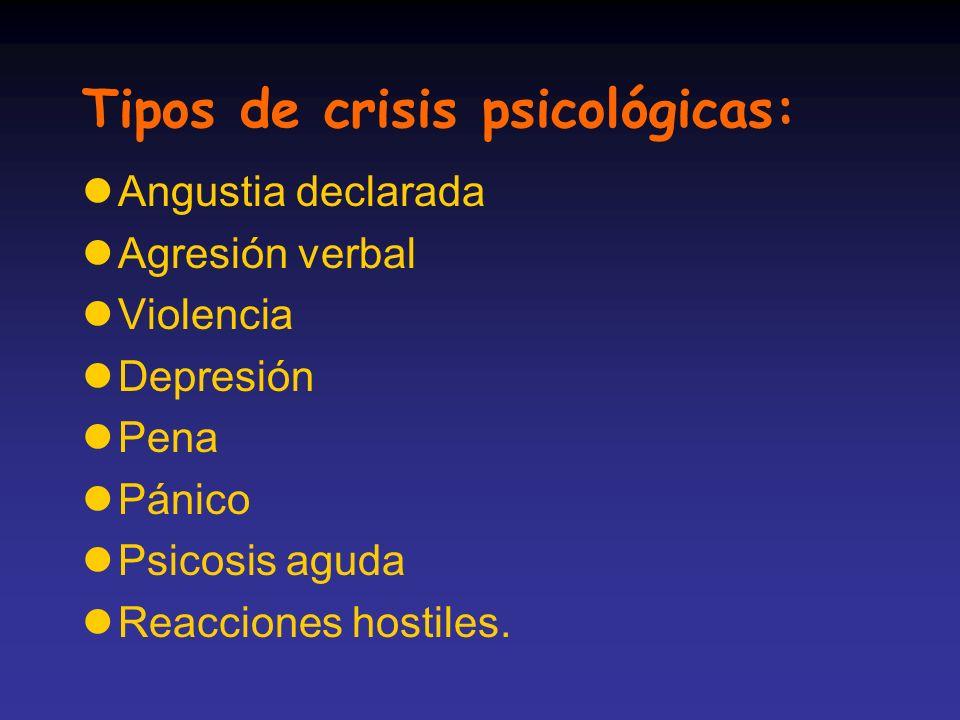 Tipos de crisis psicológicas: