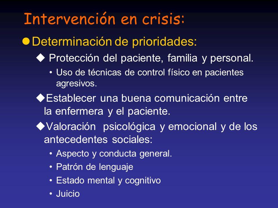 Intervención en crisis: