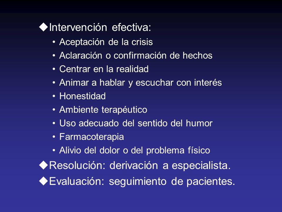 Intervención efectiva:
