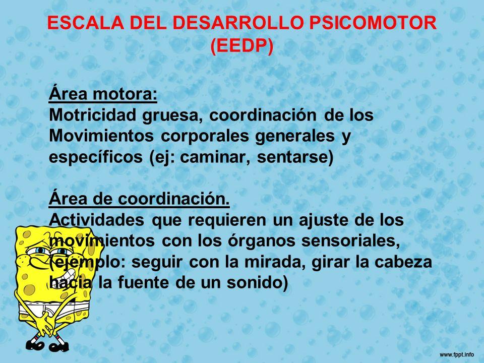 ESCALA DEL DESARROLLO PSICOMOTOR (EEDP)