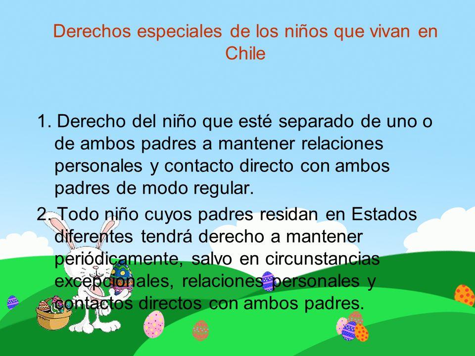Derechos especiales de los niños que vivan en Chile