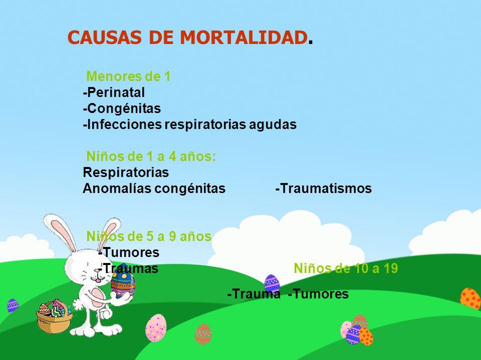 CAUSAS DE MORTALIDAD. -Perinatal -Congénitas