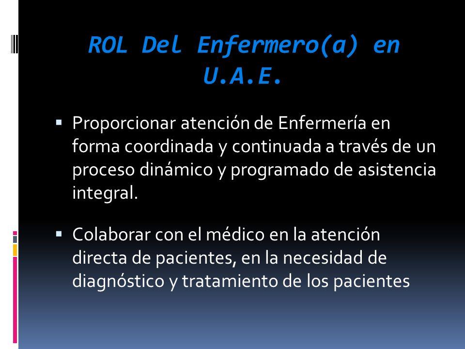 ROL Del Enfermero(a) en U.A.E.