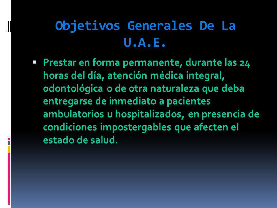 Objetivos Generales De La U.A.E.