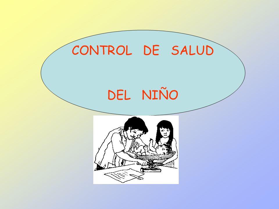 CONTROL DE SALUD DEL NIÑO
