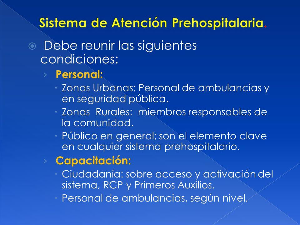 Sistema de Atención Prehospitalaria.