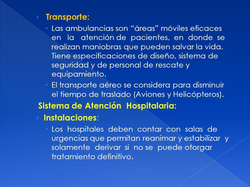 Sistema de Atención Hospitalaria: Instalaciones: