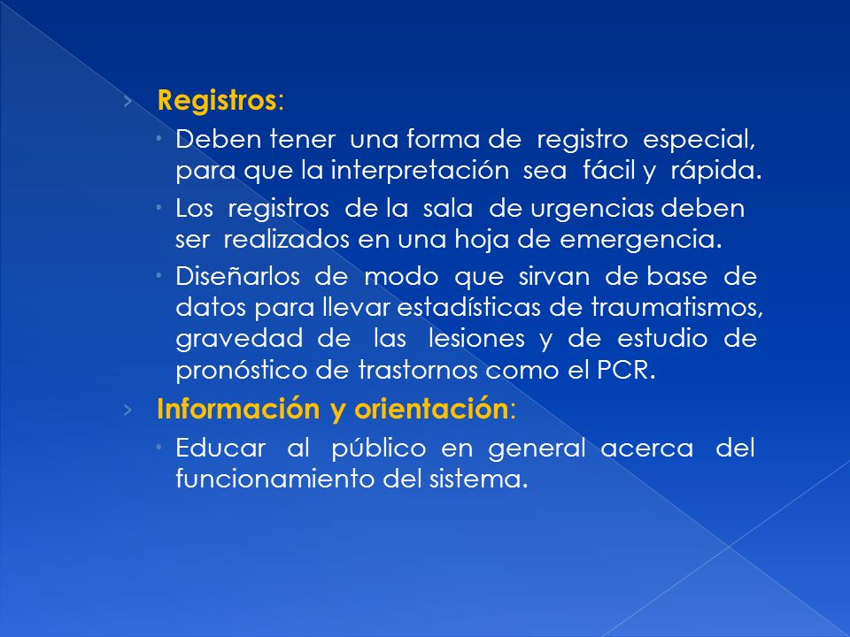 Información y orientación:
