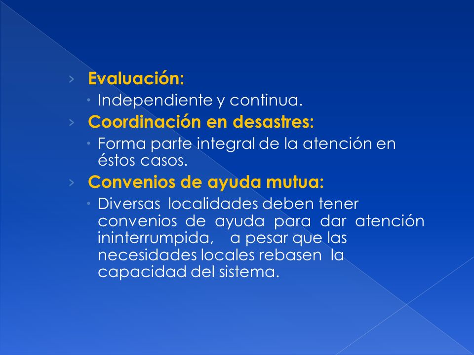 Coordinación en desastres: