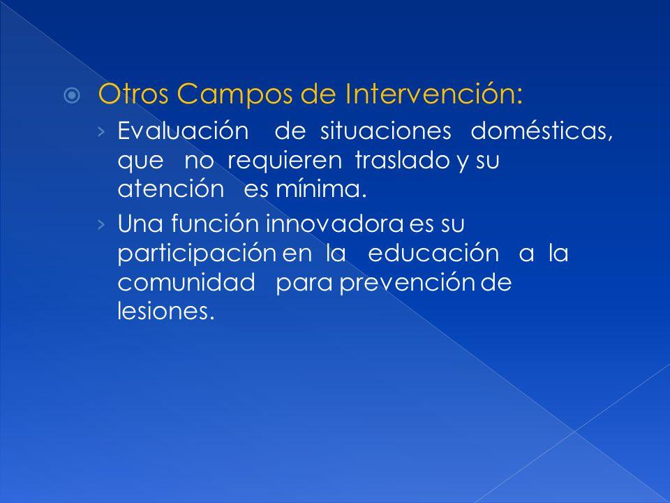 Otros Campos de Intervención:
