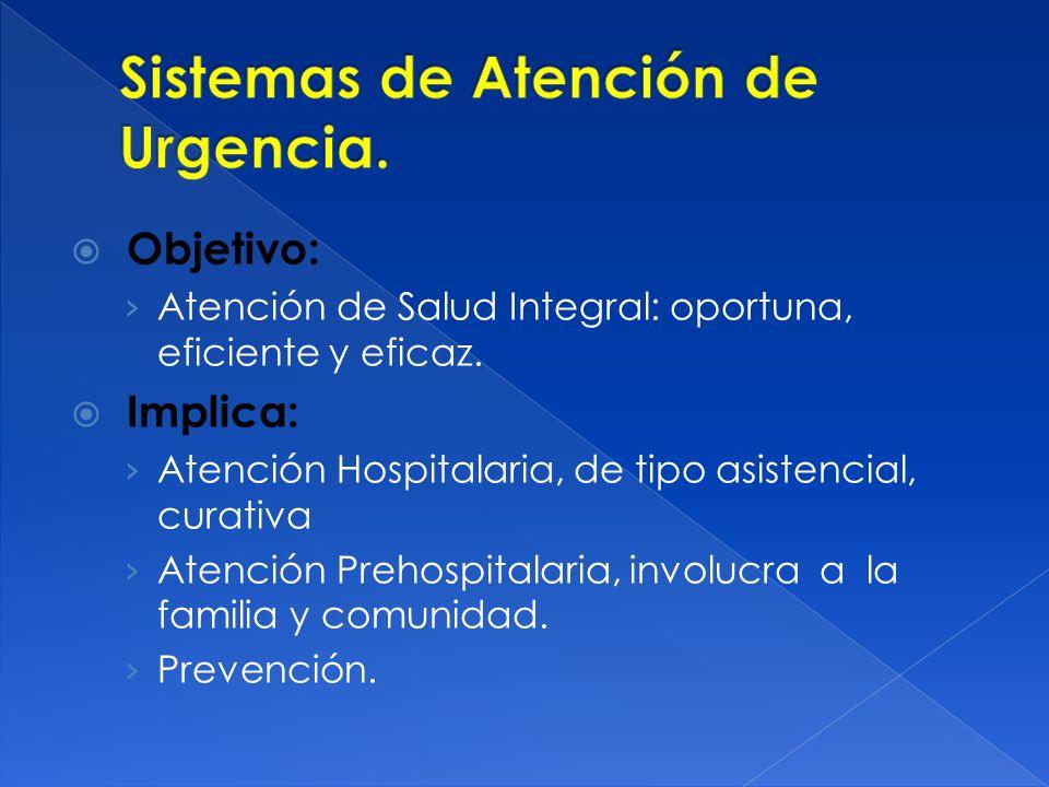 Sistemas de Atención de Urgencia.