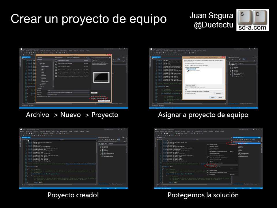Crear un proyecto de equipo