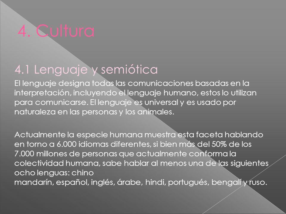 4. Cultura 4.1 Lenguaje y semiótica