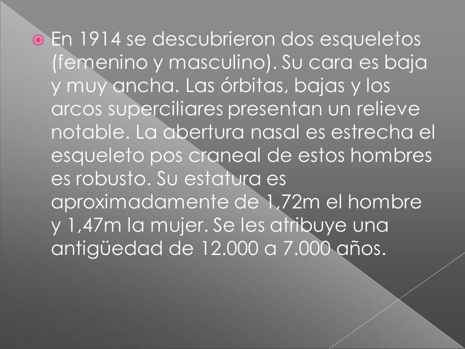 En 1914 se descubrieron dos esqueletos (femenino y masculino)