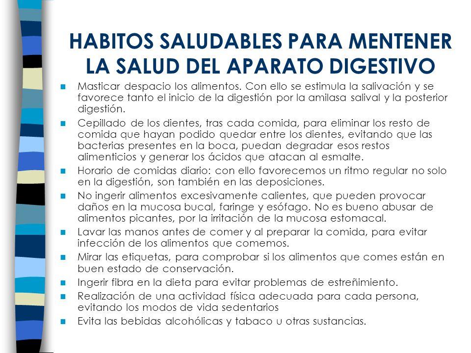 HABITOS SALUDABLES PARA MENTENER LA SALUD DEL APARATO DIGESTIVO