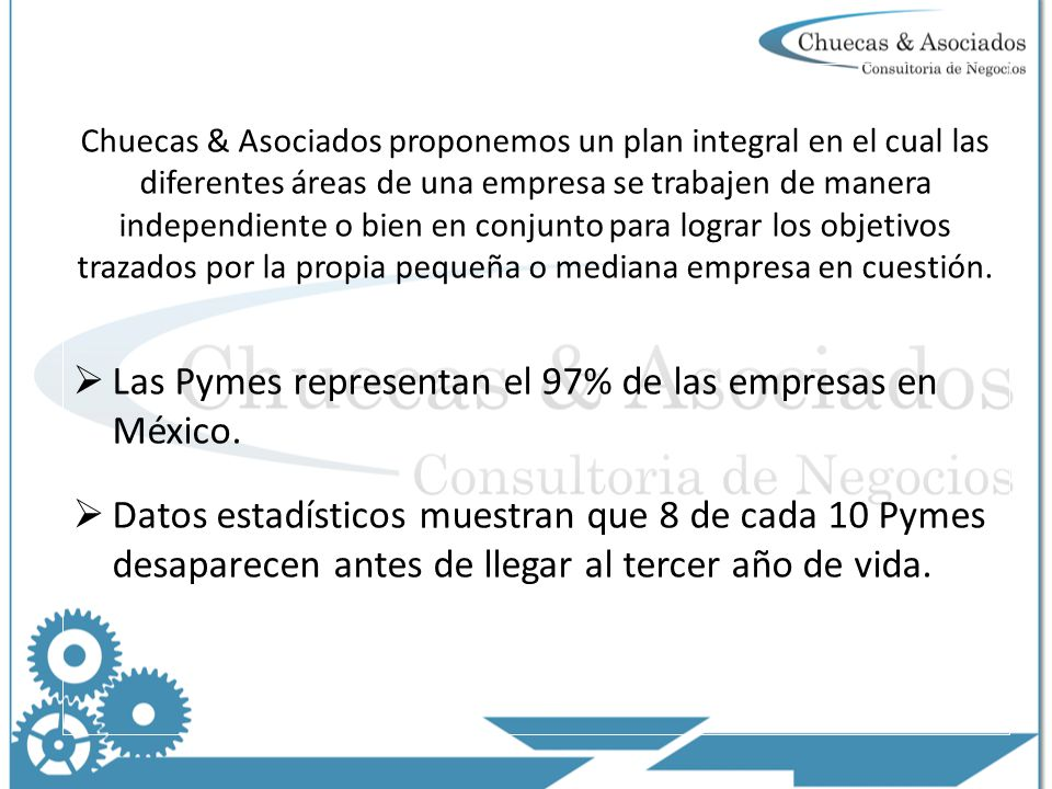 Las Pymes representan el 97% de las empresas en México.