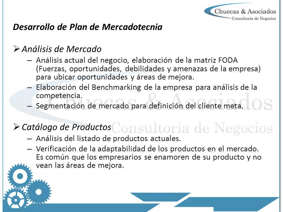 Desarrollo de Plan de Mercadotecnia Análisis de Mercado