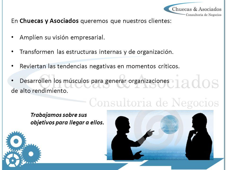 En Chuecas y Asociados queremos que nuestros clientes: