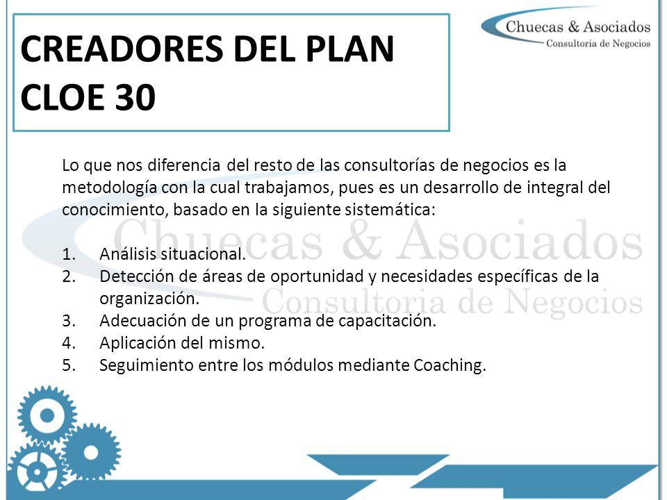 CREADORES DEL PLAN CLOE 30