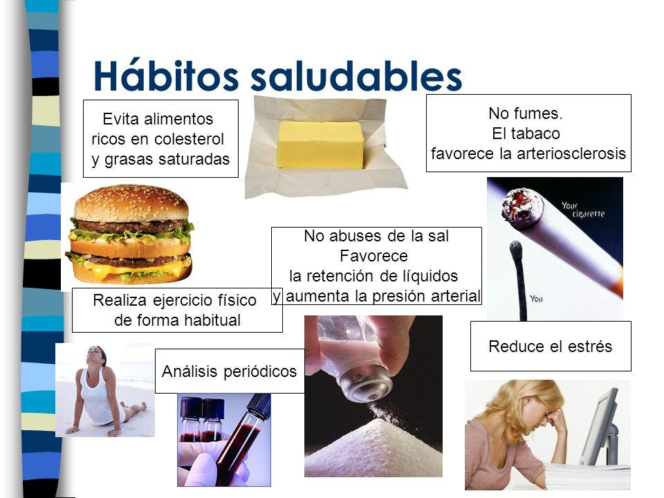 Hábitos saludables No fumes. Evita alimentos El tabaco